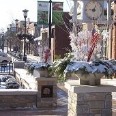 Downtown Decorated for Holidays