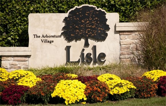 Village of Lisle Fall Gateway Sign