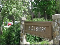 Lisle Library Sign